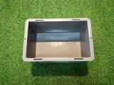 聊城【EU物流箱】灰色塑料箱欧式标准箱厂家