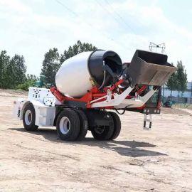 沃特機械 工地水泥物料自动拌料车 自上料搅拌罐车