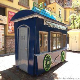 时尚精致商业街景观小吃售卖亭