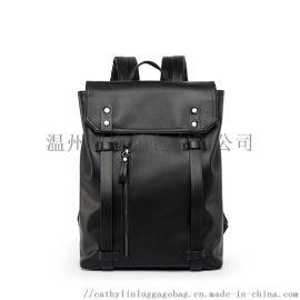 男士双肩包多功能大容量男包软面时尚潮流休闲背包