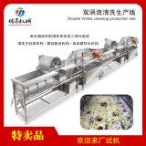 大型双涡流气泡清洗生产线蔬菜洗菜机定制