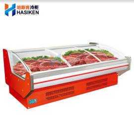 鲜肉柜冷藏展示柜超市敞开式猪肉冷柜