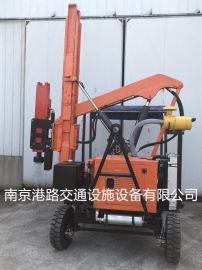 供应 高速公路护栏板液压打拔一体机,南京港路。