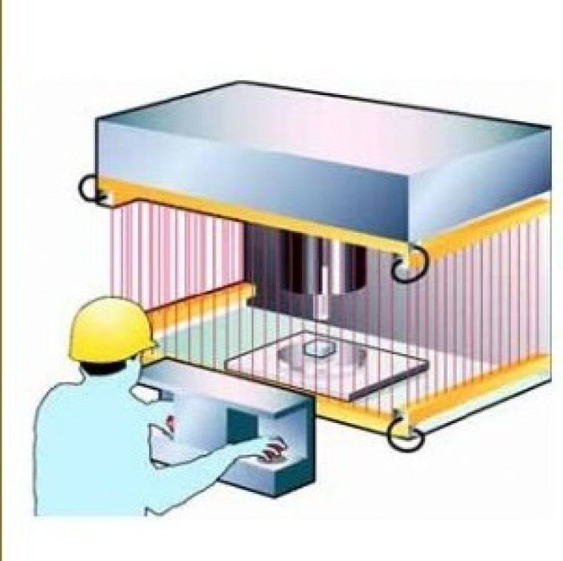 安全光幕传感器接线