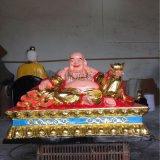 歡喜佛 彌勒佛像定製 玻璃鋼彩繪貼金 玻璃鋼佛像