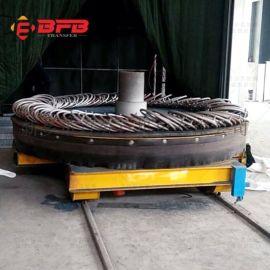 转运钢铝热卷材模具周转车 转运钢铝热卷材防爆过跨车 铁道轮小车