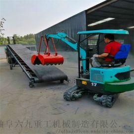 轮式抓料机 小型履带式挖掘机 六九重工 室内微型挖