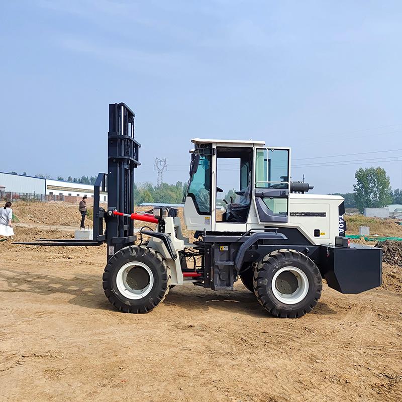 多功能装载式四驱液压越野叉车 山地自动挡升降搬运车