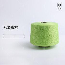 大朗纱线 抗起球32S/2无染彩棉涤纶纱 现货仿棉纱线涤纶纱线