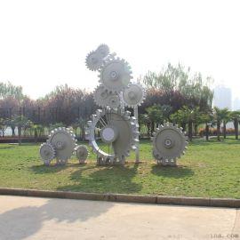 不锈钢齿轮雕塑 园林齿轮雕塑 不锈钢齿轮园林雕塑