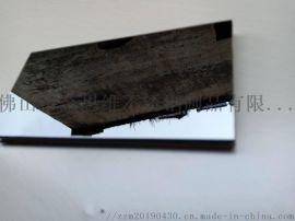 304弧形黑钛金不锈钢镜面踢脚线生产厂家