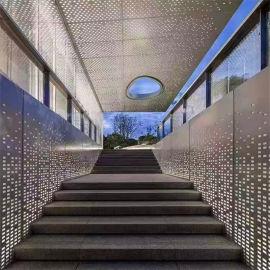楼房外墙造型艺术穿孔铝板 前台隔断穿孔铝板背景墙