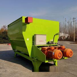 双轴粉碎搅拌机 全日粮饲料混料机 全日粮饲料搅料机