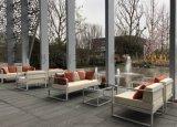 高档金属沙发 高档场所专用不锈钢户外休闲沙发定做