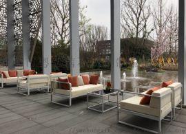 高檔金屬沙發 高檔場所專用不鏽鋼戶外休閒沙發定做
