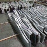 鋁合金弧形造型噴塗鋁方管鋁方通花吊頂工程裝飾