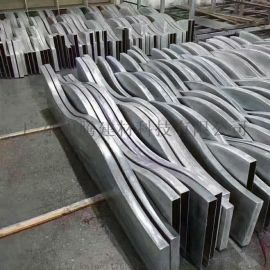 铝合金弧形造型喷涂铝方管铝方通花吊顶工程装饰