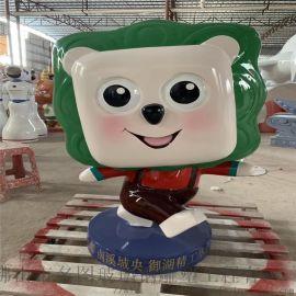 肇庆玻璃钢雕塑厂家供应幼儿园玻璃钢卡通动物雕塑