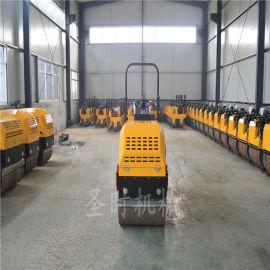 前轮振动小型手扶压路机厂家 农用工程座驾式压路机
