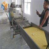生产自动化雪媚娘上糠机 甜心糯米饼上屑机