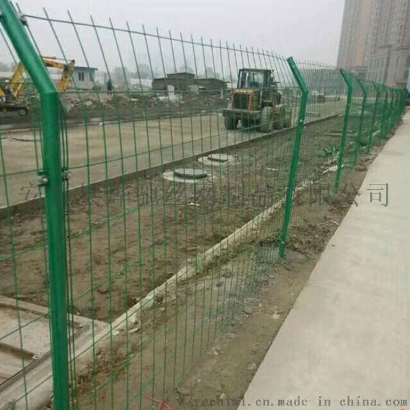 海邊場區  鐵藝欄杆 鍍鋅焊接網隔離柵