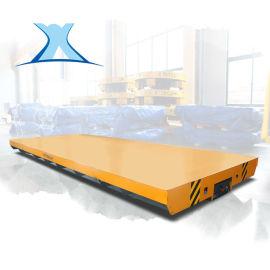 轨道升降运输平台工业导轨车 10吨48v电动平车