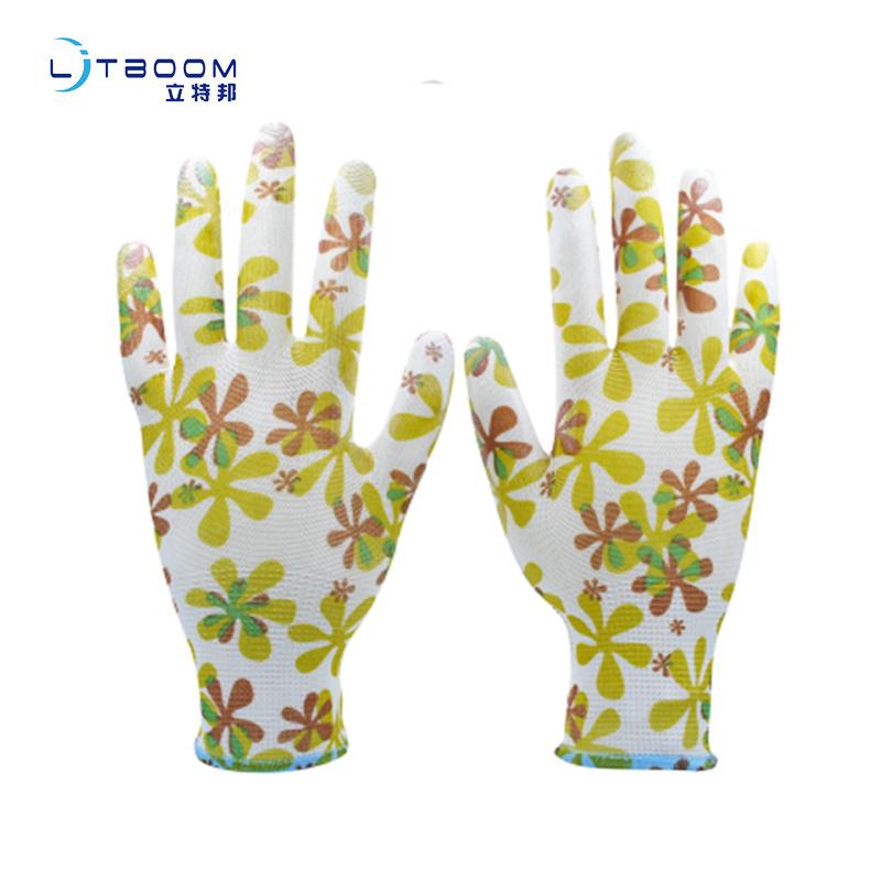 pu防静电涂指浸胶防滑手套防护耐磨园艺类手套