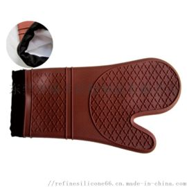 厂家直销 花纹硅胶微波炉手套 硅胶防烫手套