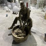 洗衣服主题雕塑 街头小品人物雕塑造型
