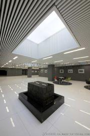 木纹型材铝方通图书馆室内集成吊顶