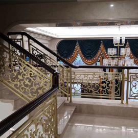 惠州铝艺楼梯雕刻护栏别墅尊贵身份象征