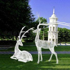 廣東鐵藝鏤空鹿雕塑/鐵藝鏤空鹿雕塑制作加工廠