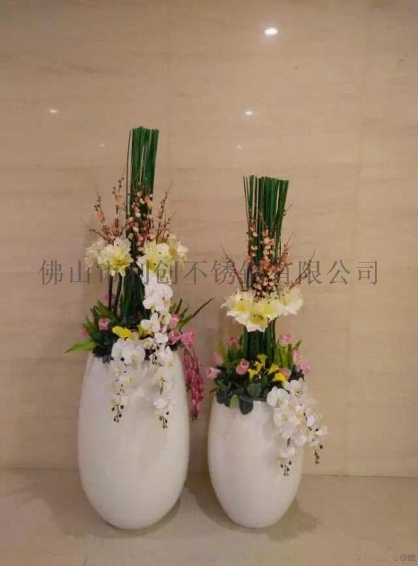 不鏽鋼定製圓形花盆花器廠家 戶外大花器加工