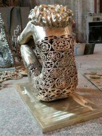 大型人物铜雕半镂空人物铸铜雕塑广场装饰品可定制