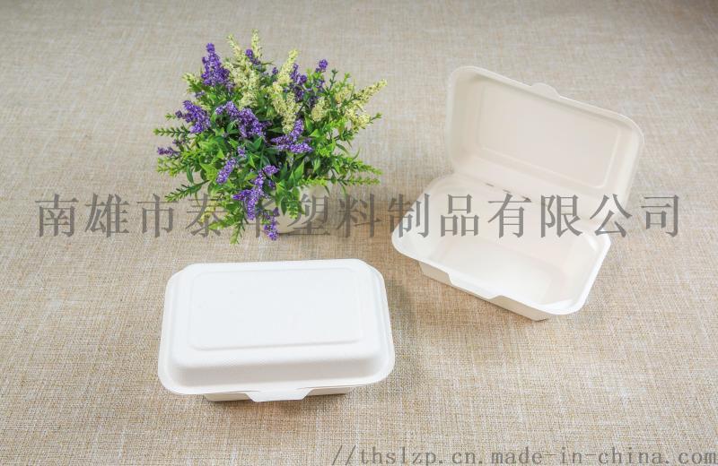 甘蔗浆600ml一次性环保餐盒