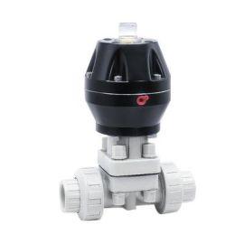 进口气动单作用隔膜阀-塑料-PVDF-不锈钢30