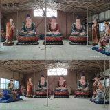 寺庙寺院佛像三宝佛 观音菩萨文殊普贤地藏王菩萨