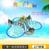 四川綿陽戶外大型游泳池支架水池搭配充氣水滑梯
