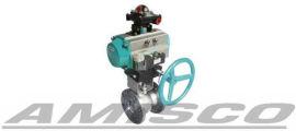 进口气动放料球阀-美国阿米斯科气动放料球阀
