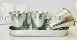 乡村田园风铁花盆,多肉植物装饰桶,桌面摆放花桶花器