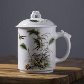陶瓷老板杯定制 景德镇好的陶瓷杯子