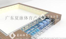夏泳钢结构拆装式游泳池可拼装胶膜游泳池