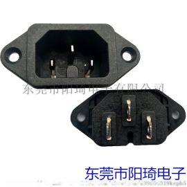 深圳厂家供应新品带热态认证的锁式品字插座