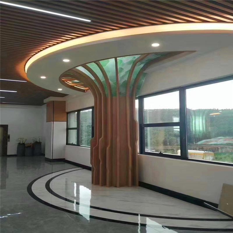 深圳造型铝单板包柱厂家 弯曲造型烤漆包柱铝单板