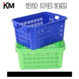 周轉箱塑料蔬菜筐水果箱注塑模具 物流中轉箱子