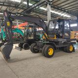 轮式挖掘机抓木工程 轮胎式多功能液压挖掘机
