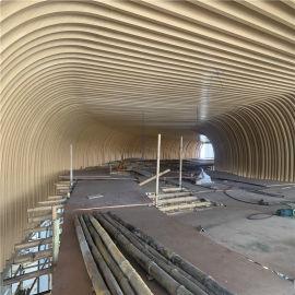 东站公共区域弧形铝方通 木纹个性铝方通吊顶厂家定制