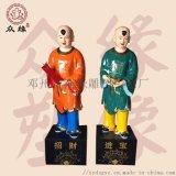 少年修道的童男童女神像 树脂贴金彩绘神像 厂家直销