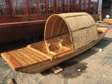 现货出售湖北孝感风景区旅游观光船仿古手划木船