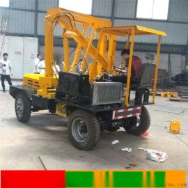 公路护栏打桩机装载式混凝土钻孔机高速路多功能一体机
